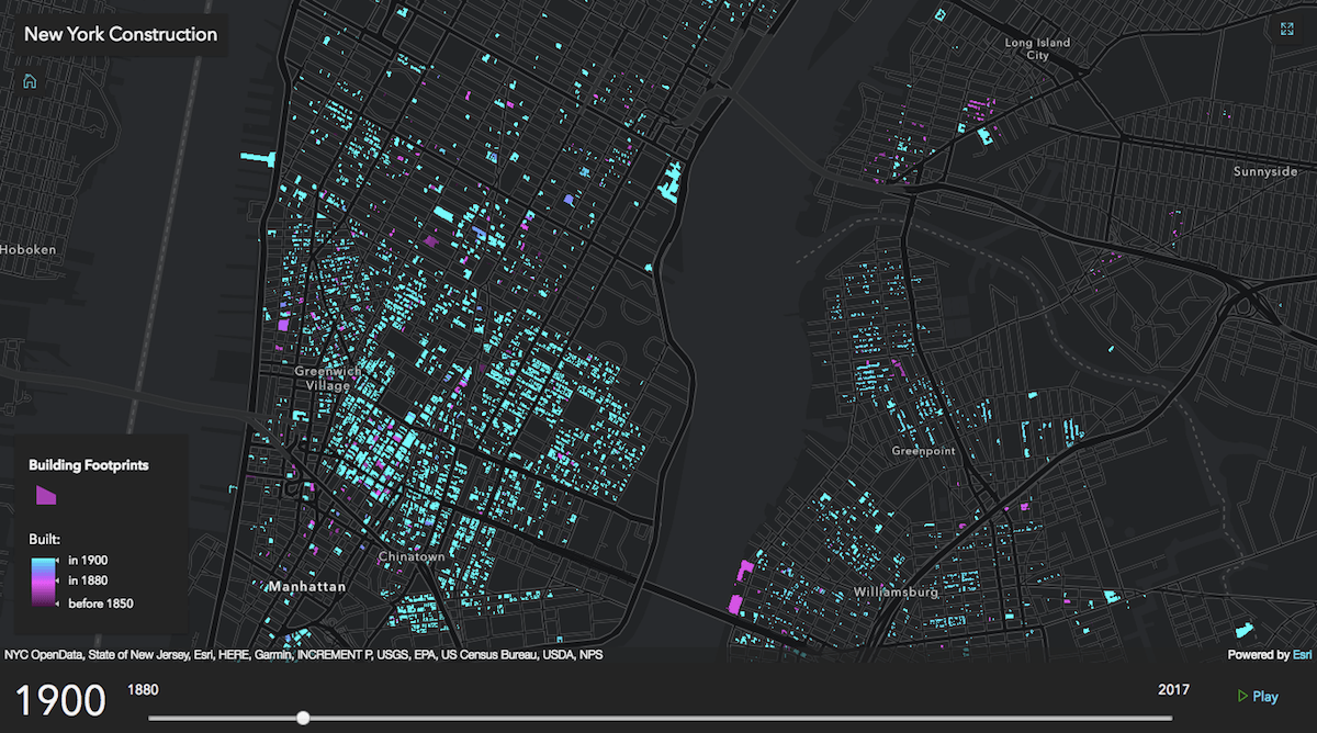 Map Watch 1 Million Nyc Buildings Being Constructed Since 1880 6sqft