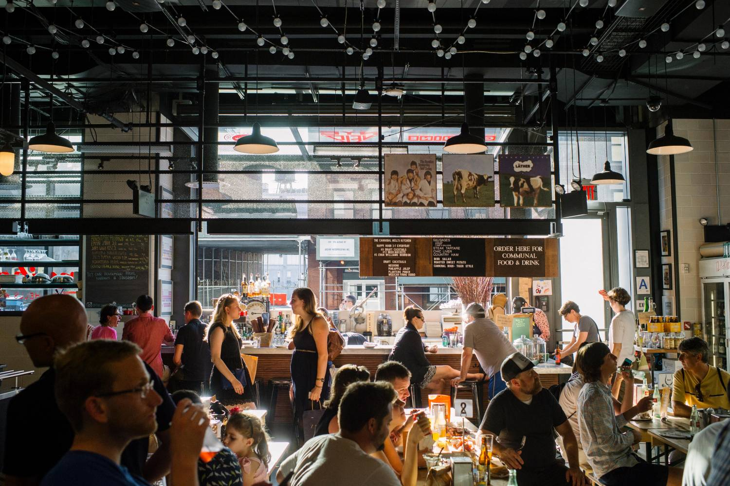 gotham west market, hudson yards, food hall