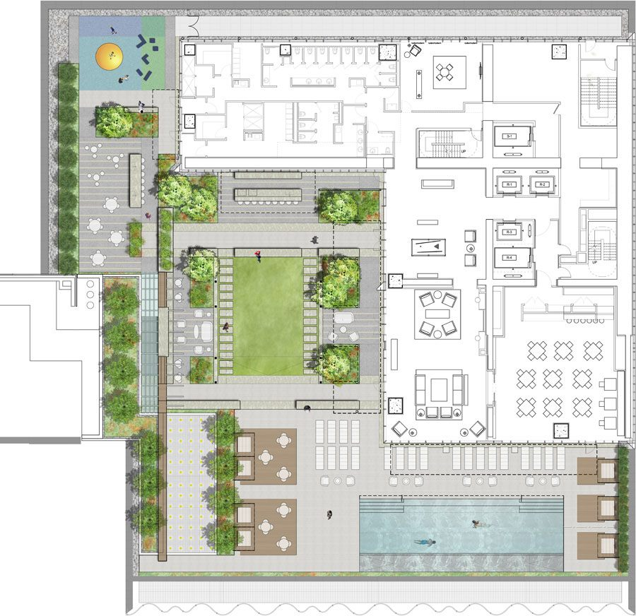 Revealed Central Park Tower S Village Green Lawn And