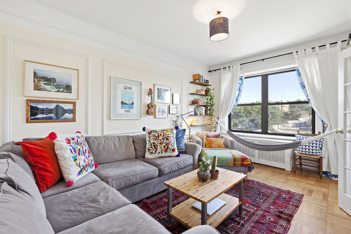 Pretty Park Slope co-op with a hammock under the window asks $895K ...
