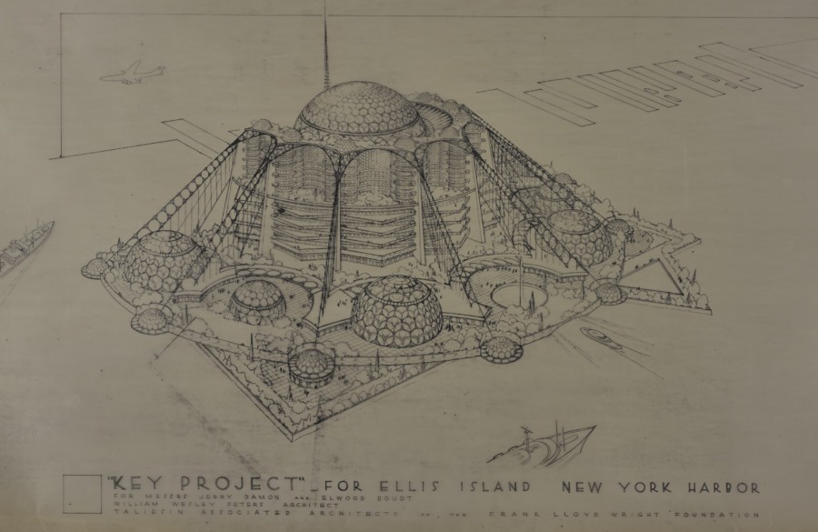 Frank Lloyd Wright, Ellis Island, Key Project,