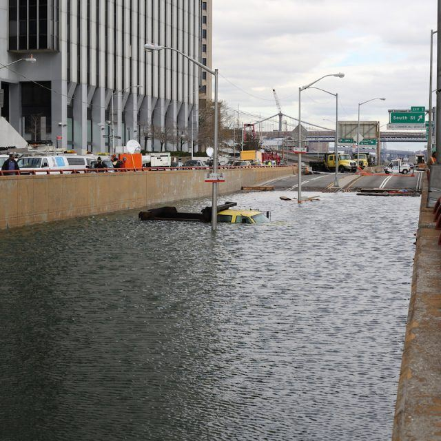 In debate over $119B sea wall to protect NYC from superstorms, Trump says 'get your mops'