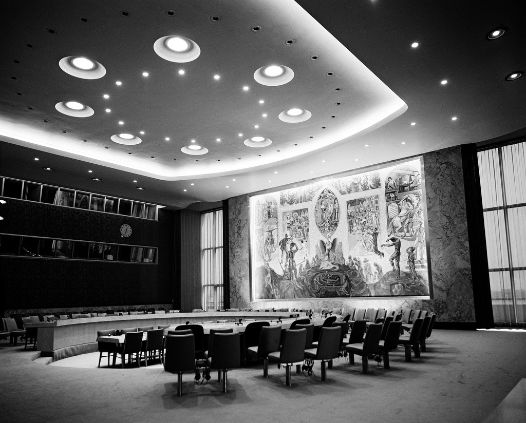 UN building, UN headquarters, nyc history