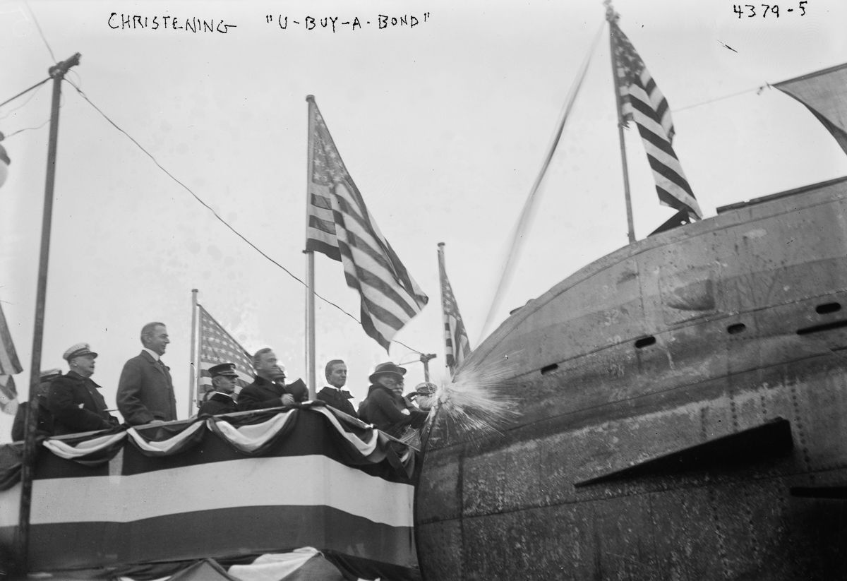 german u boat, central park, liberty day, 1917