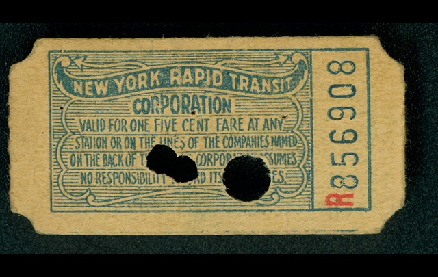 first nyc subway ticket, mta, subway ticket, subway opening