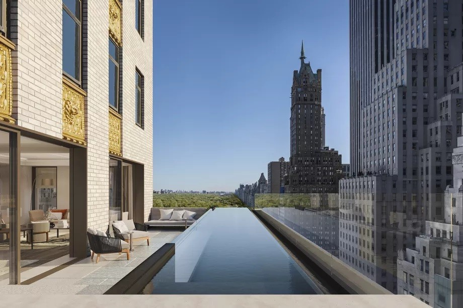 Crown Building's $100M penthouse will have two indoor pools and a piano lounge