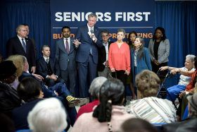 Mayor de Blasio, affordable housing, seniors first