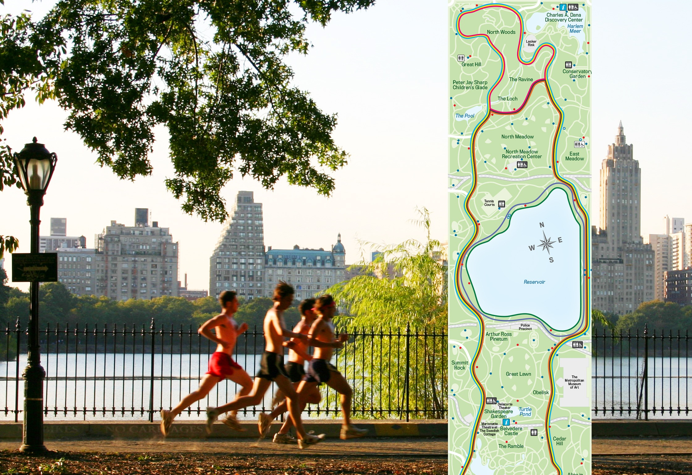 Map find the best loops and trails for running in central for Things to do in central park today