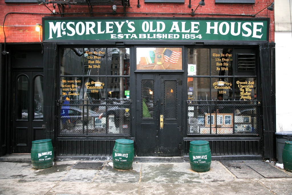 mcsorleys old ale house, east village, historic bars nyc