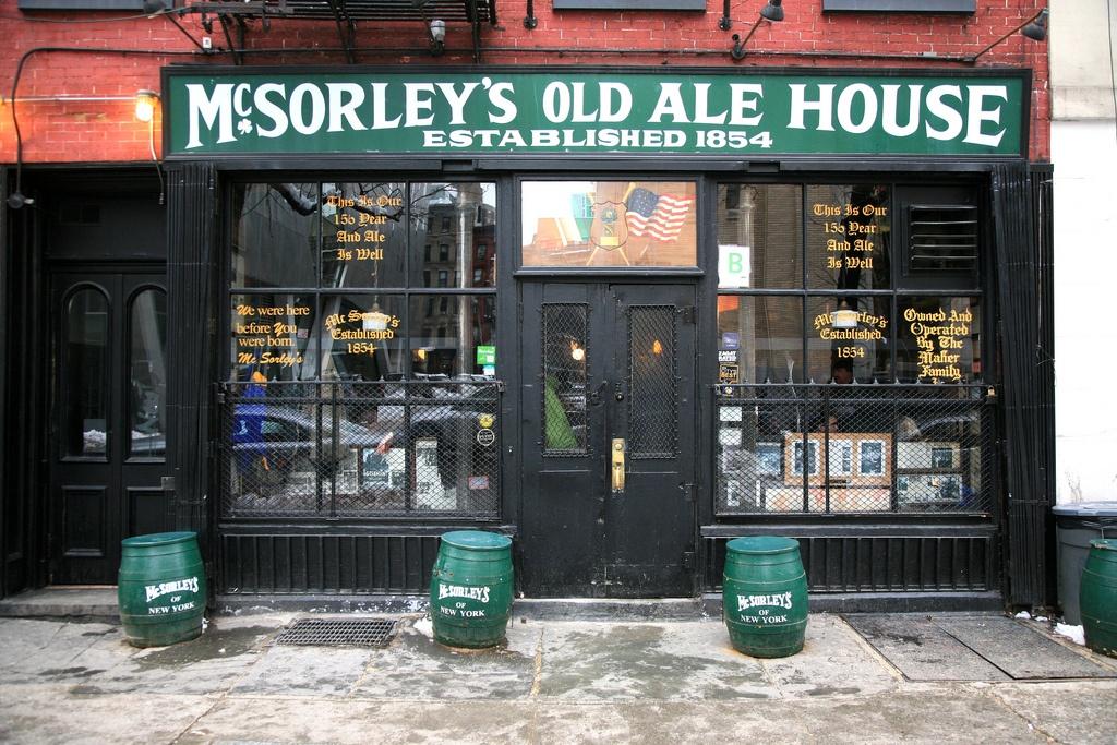mcsorleys old ale house, east village, historic bars nyc