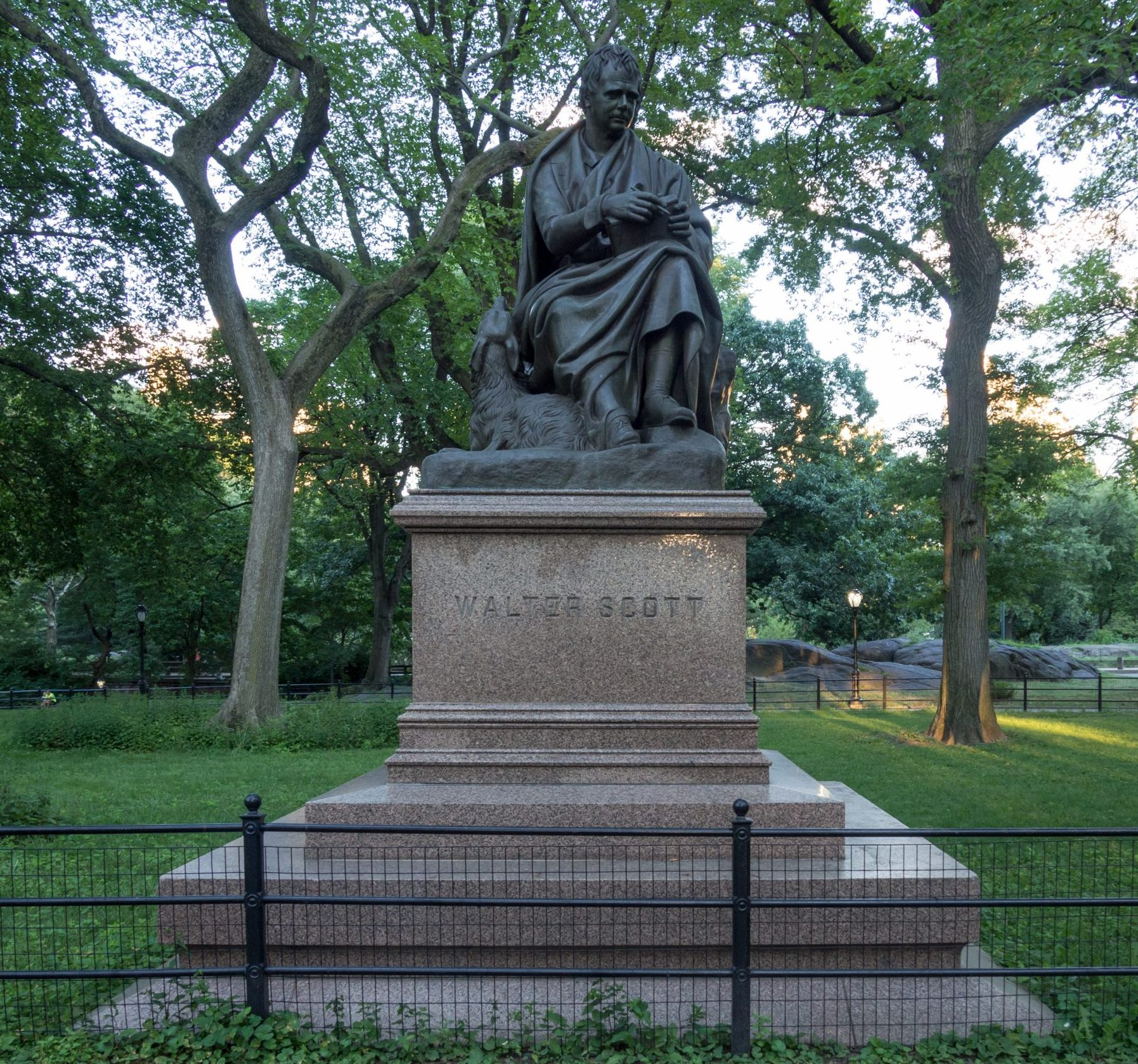 Walter Scott statue, Central Park statues, Central Park mall, Literary Walk