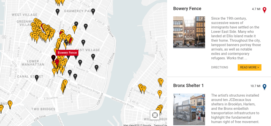 Map where to find all 300 works in ai weiweis good fences make map that displays all 300 of the famed artist activists artworks currently found at public spaces transit sites lampposts and monuments all over the gumiabroncs Gallery