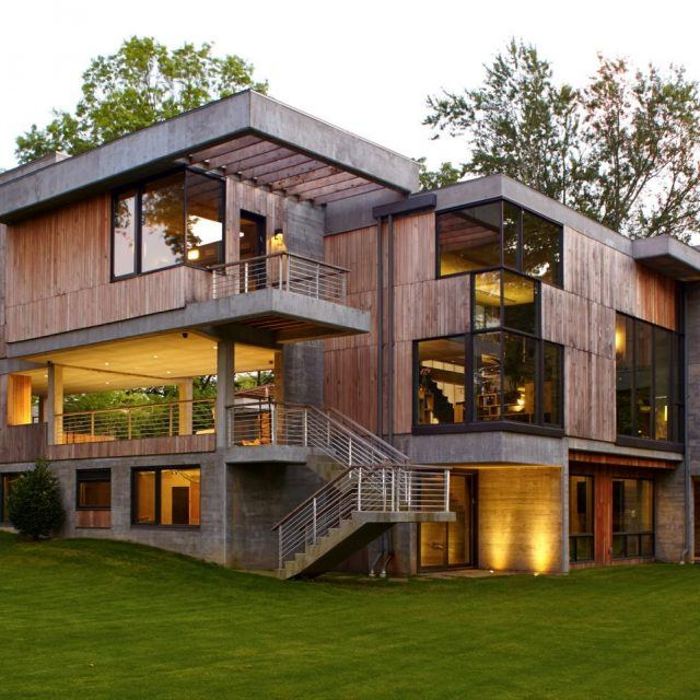 Narofsky Architecture built this Long Island home using trees knocked down during Hurricane Irene