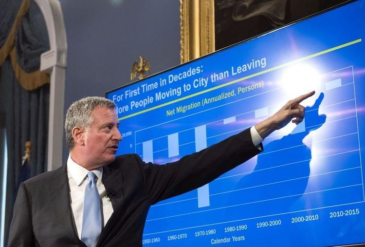 Mayor de Blasio releases four-year financial plan