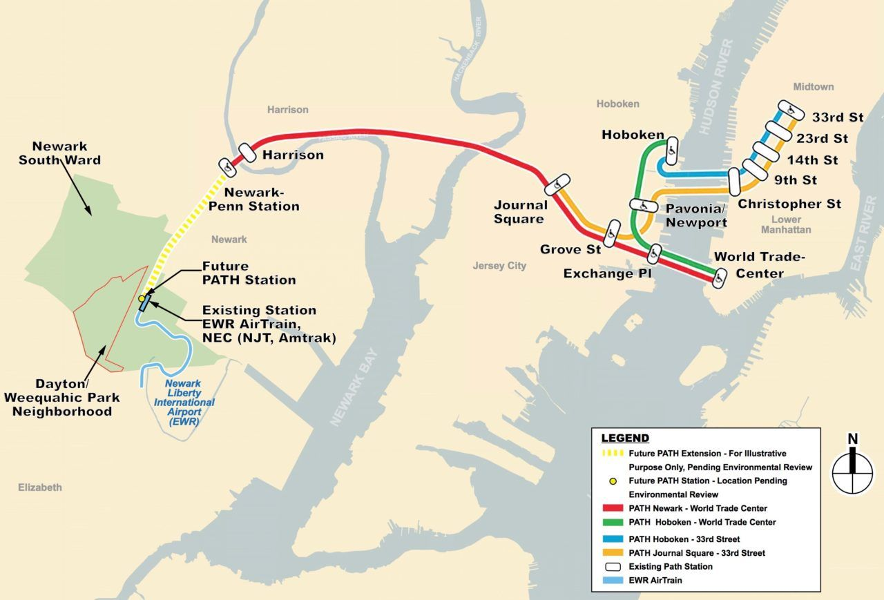 Proposal to extend PATH train to Newark airport heads to public ...