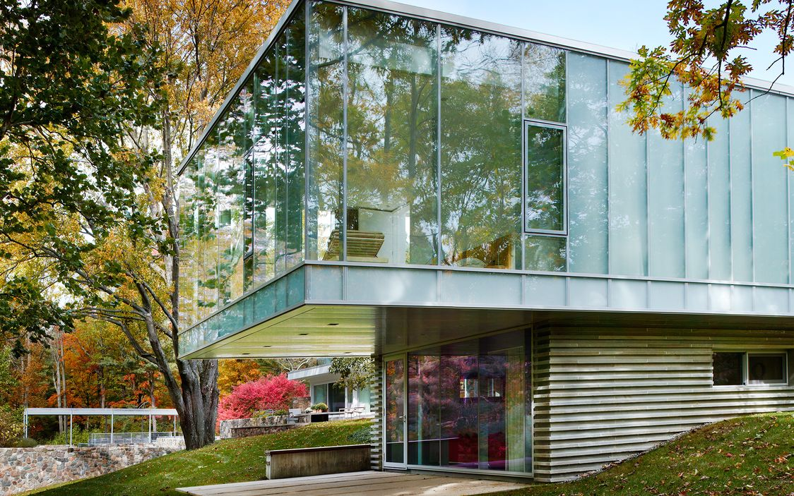Connecticut home marcel breuer designed for himself for Glass house additions
