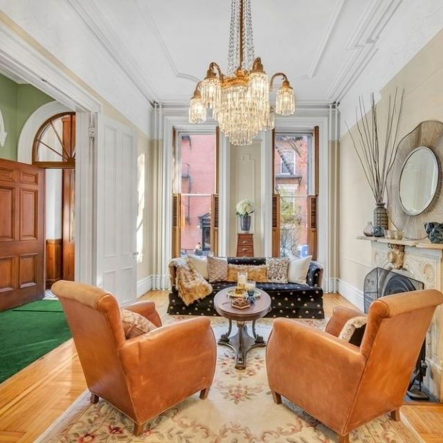 This $3.7M Cobble Hill townhouse is period-perfect with rooms to spare and harbor views