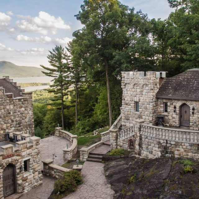 Escape to this extraordinary mini-castle overlooking Lake George for $395/night