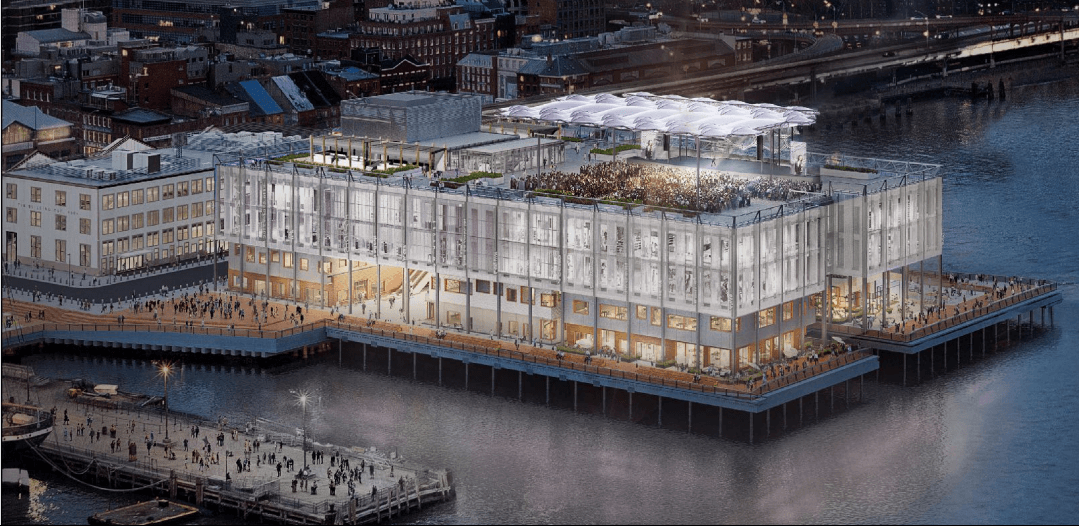 LPC approves Achim Menges' futuristic rooftop pavilion and stage for Pier 17