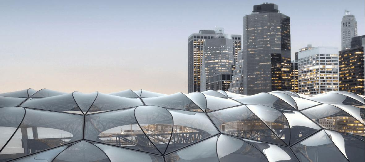 Lpc Approves Achim Menges 39 Futuristic Rooftop Pavilion And Stage For Pier 17 6sqft
