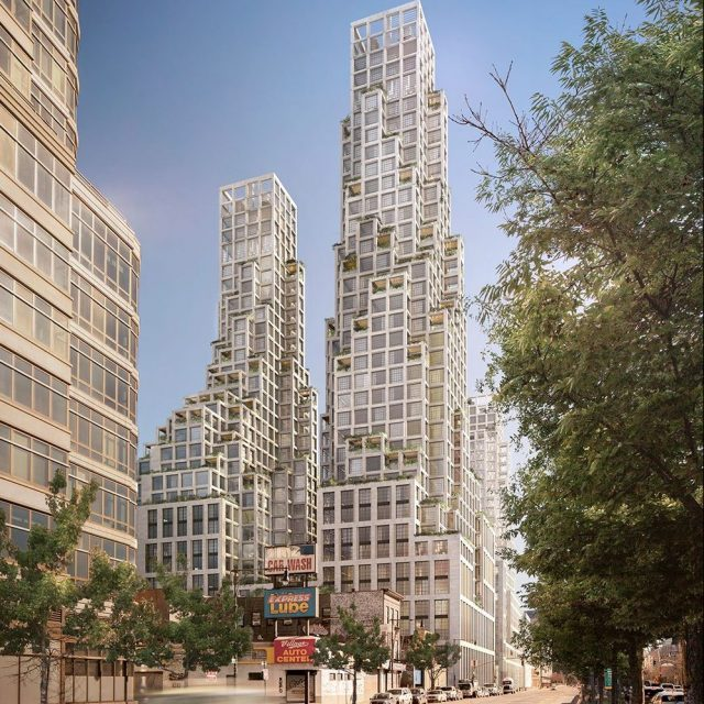 COOKFOX unveils design for five eco-conscious high-rises in Hudson Square