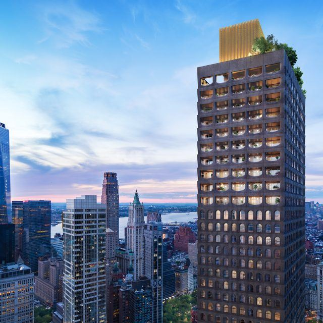 First official look at David Adjaye's 800-foot Financial District condo tower