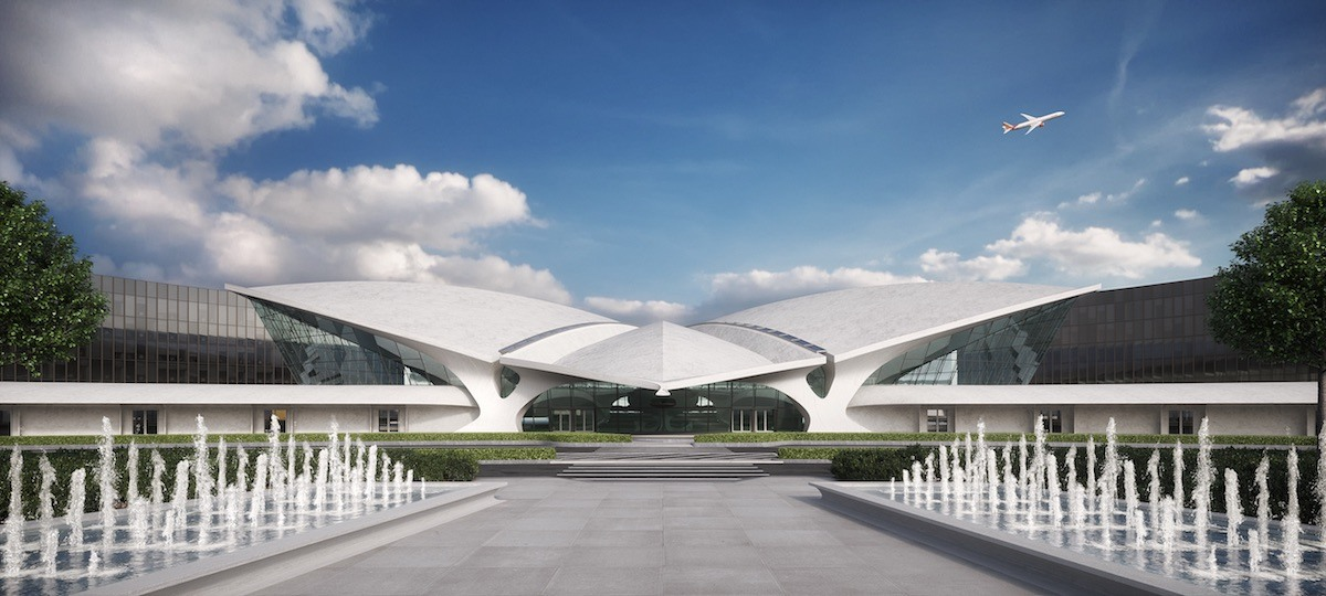 JFK's TWA Flight Center Hotel tops out, on track to open in 2019 with the world's largest hotel lobby