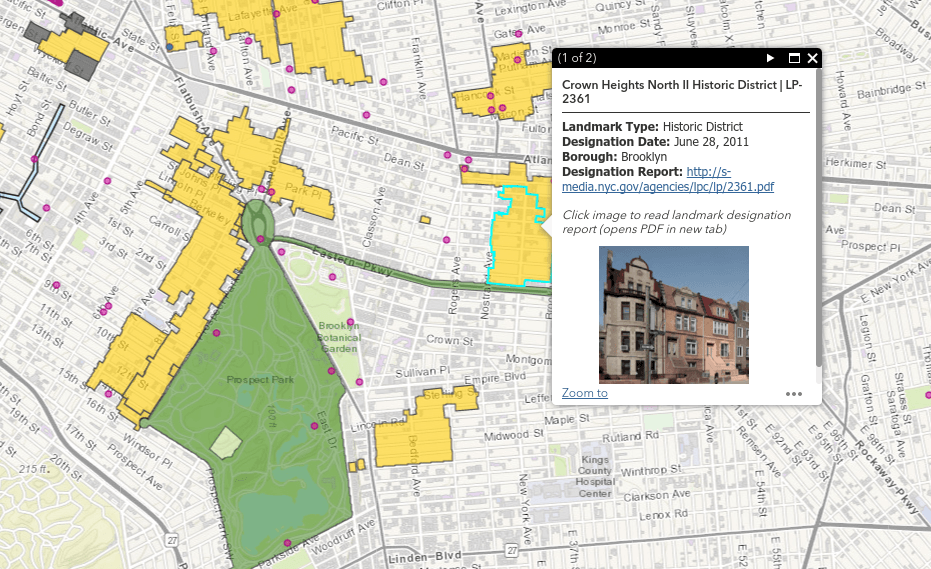 scenic landmarks or historic districts the maps legend labels these categories by using different colors and shapes funded by the new york city