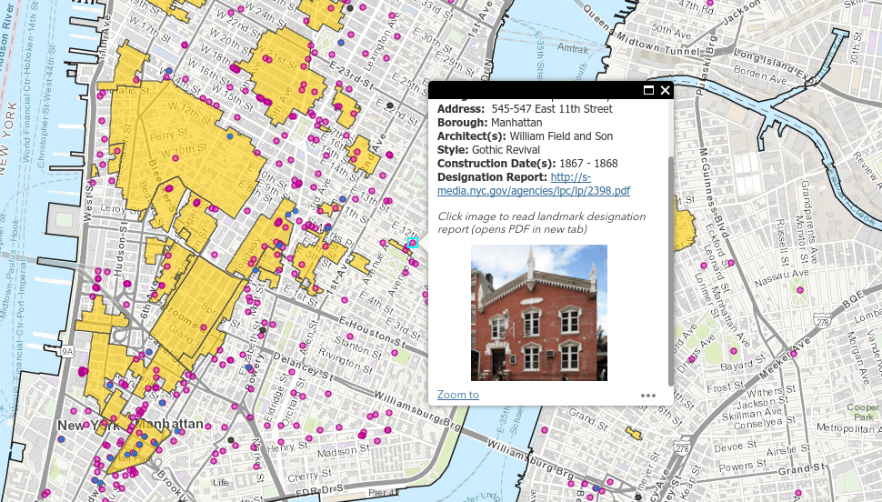 Map Explore Nearly 34000 Landmarks In New York City 6sqft - Us-map-with-landmarks