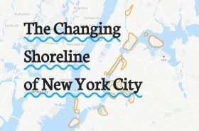 The changing shoreline of nyc, maps, nypl