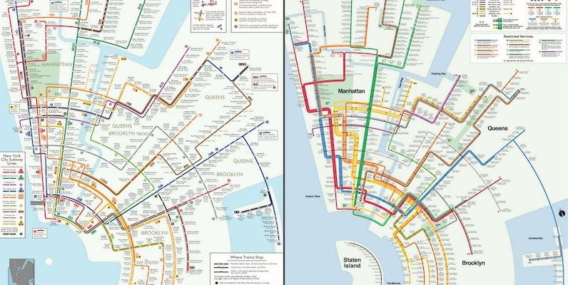 Brooklyn To Manhattan Subway Map.Artist Uses The Classic Vignelli Design To Reimagine The Nyc Subway