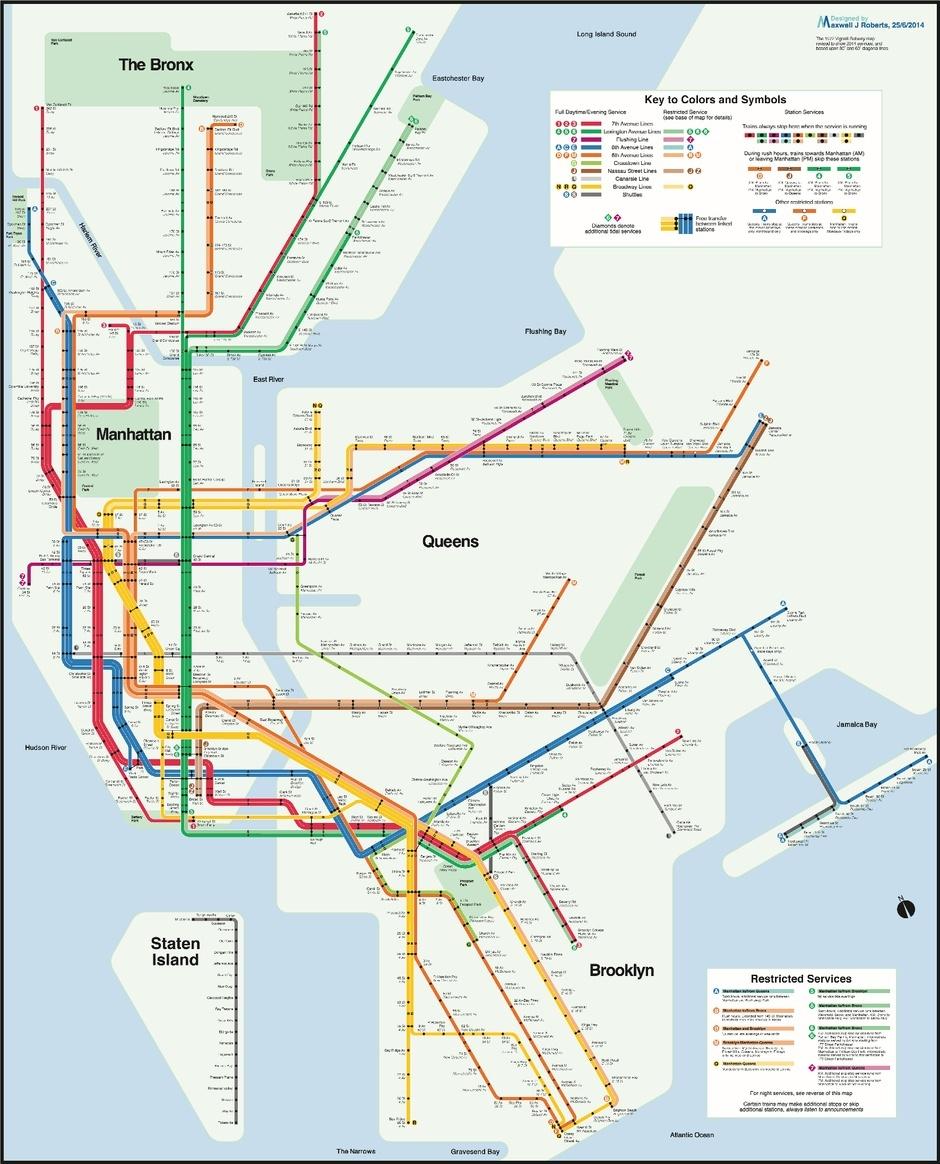 max roberts, max roberts nyc subway map
