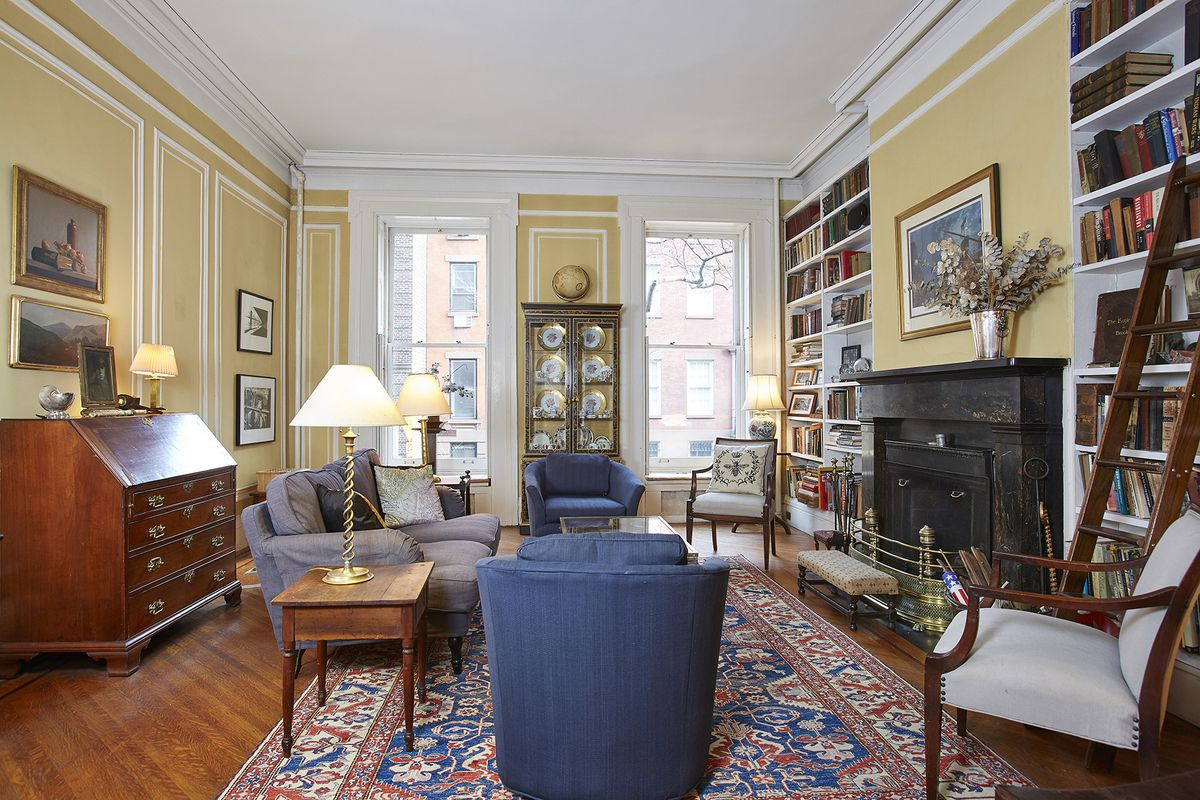 a duplex in a historic brooklyn heights townhouse with a private