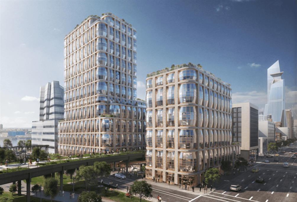 Thomas Heatherwick designs two bubbled condo towers for Related's High Line-straddling site