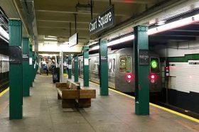 G train, Court Square, NYC subway