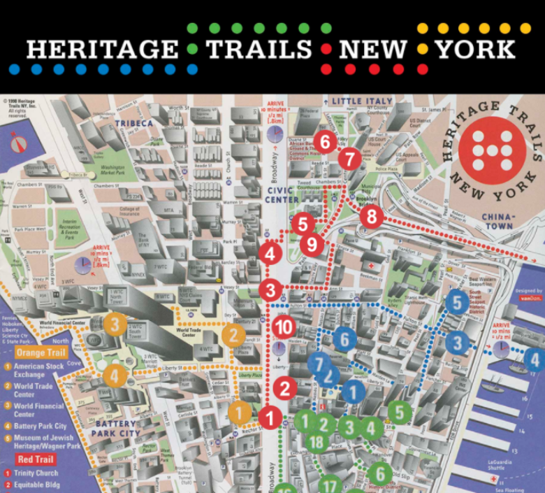 Interactive Map Of Manhattan.Travel Along The Historic Trails Of Lower Manhattan With This