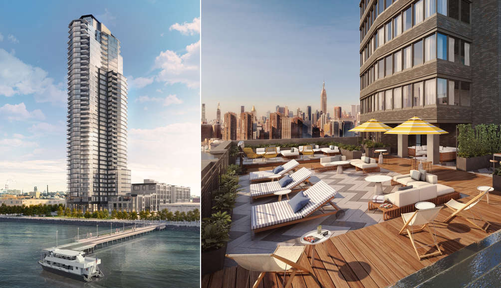 Lottery opens for 140 affordable units at Greenpoint's tallest tower, from $613/month