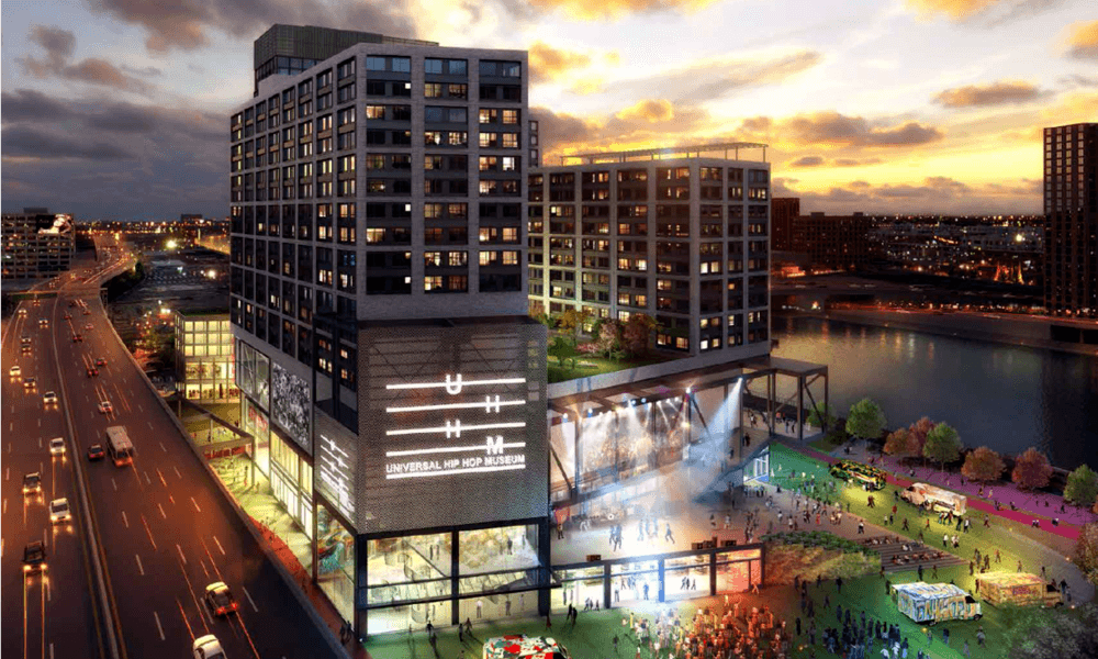 South Bronx complex with 1,045 housing units and nation's first Hip-Hop museum gets new rendering