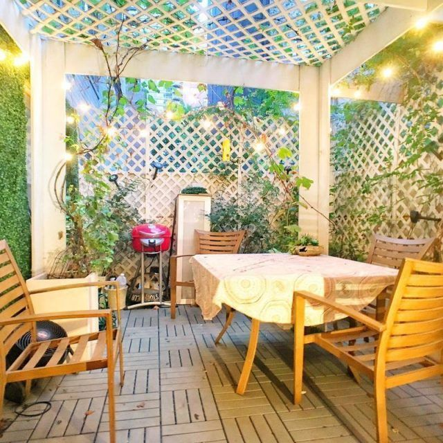 A magical private patio is tacked onto this $599K co-op in Lenox Hill