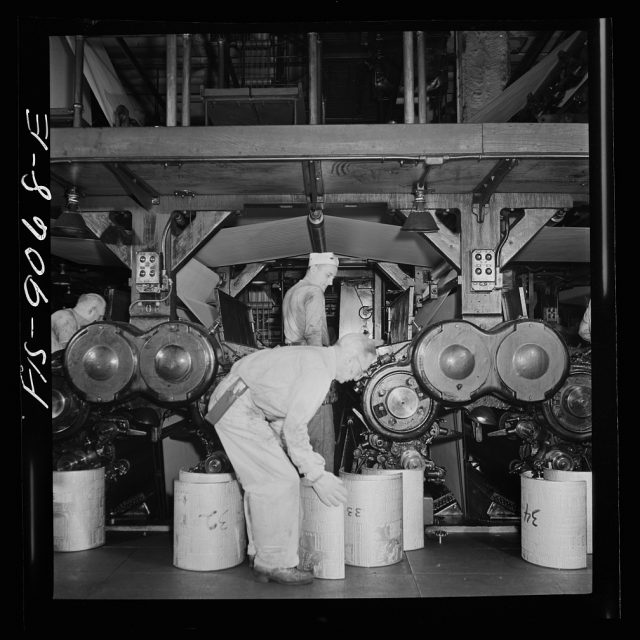 The Urban Lens: Vintage photos show the New York Times' 1940s printing process