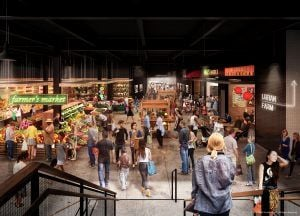 Essex Crossing, Market Line, NYC food hall, SHoP Architects