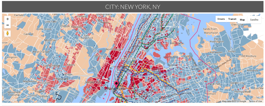 Interactive Map Of New York City.Interactive Map Identifies The New York City Neighborhoods Most
