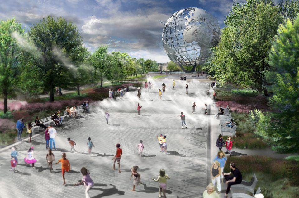 World S Fair Fountains In Flushing Meadows Will Get A 5m