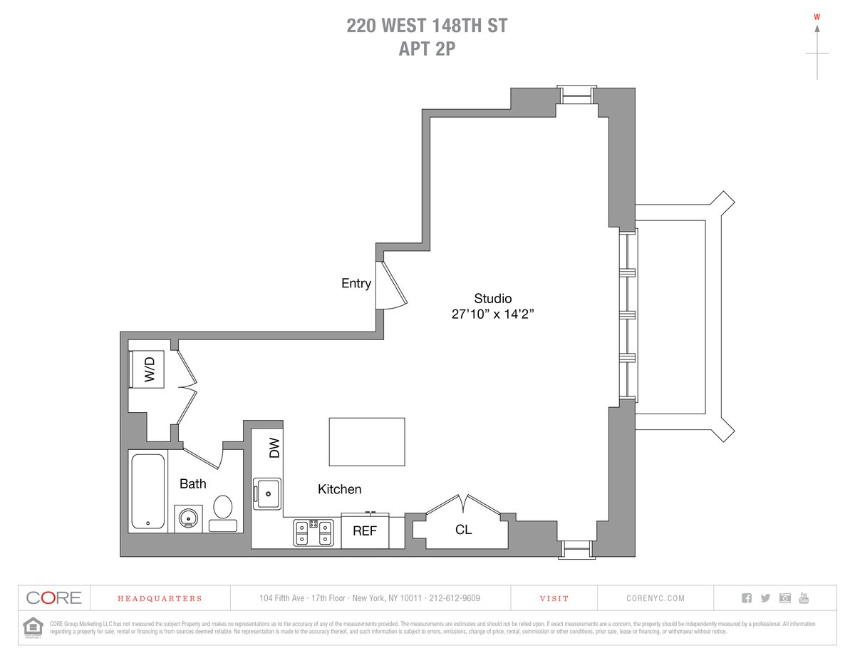 220 west 148th street, harlem, studio, CORE
