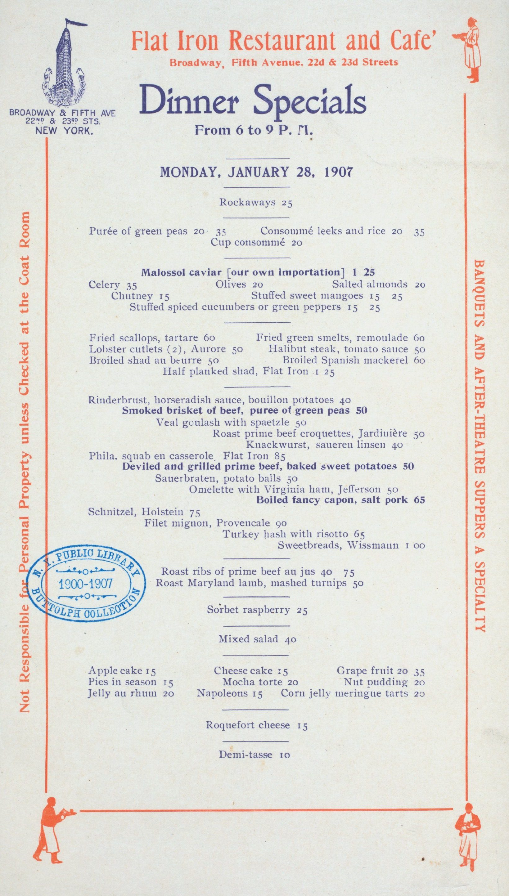 Ragtime Cafe Lunch Menu