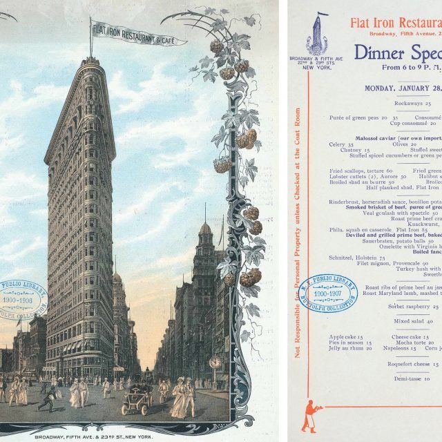 Did you know the Flatiron Building used to have a massive restaurant in the basement?
