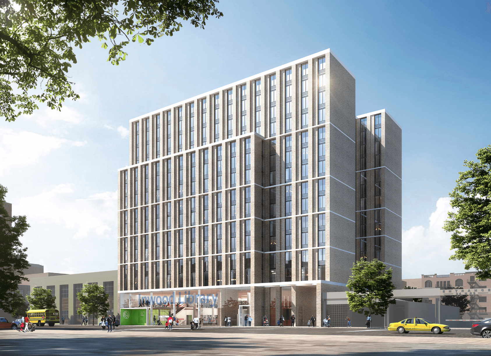 inwood library project will have 175 affordable apartments and a new