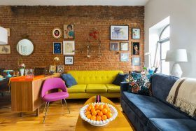 Aria and John Chiaraviglio, retro apartment, Harlem brownstone, Mysqft