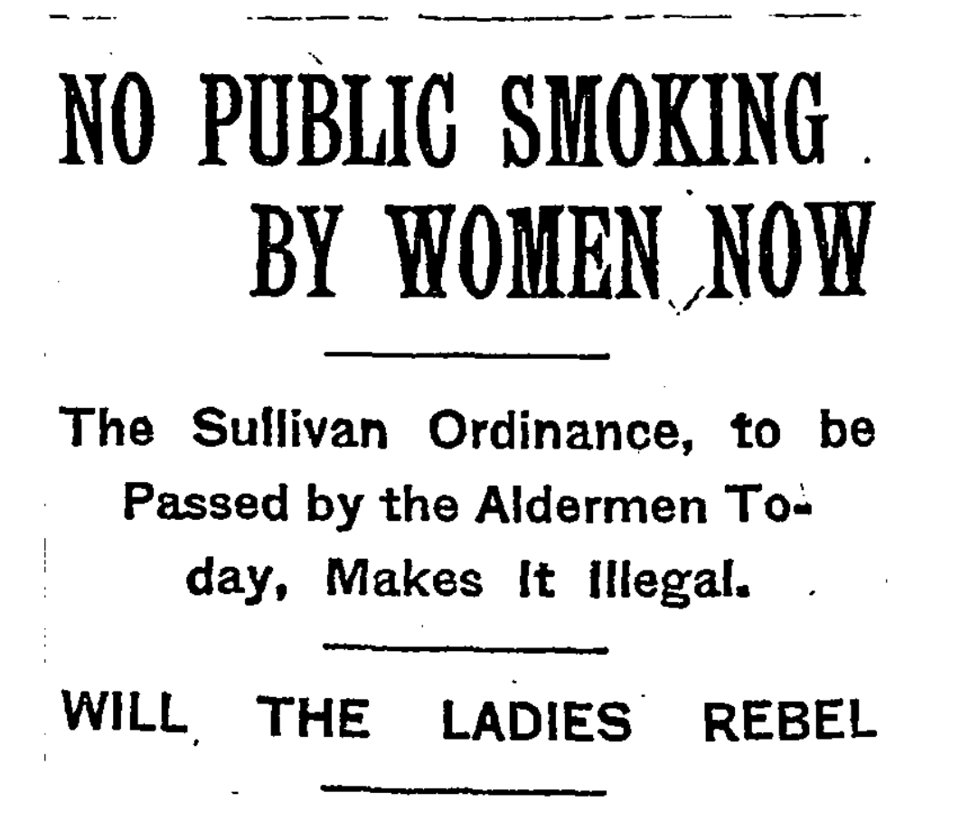 Sullivan Ordinance, smoking