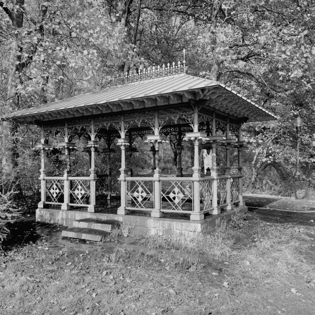 Central Park's Ladies Pavilion and the disappeared ice skating cottage